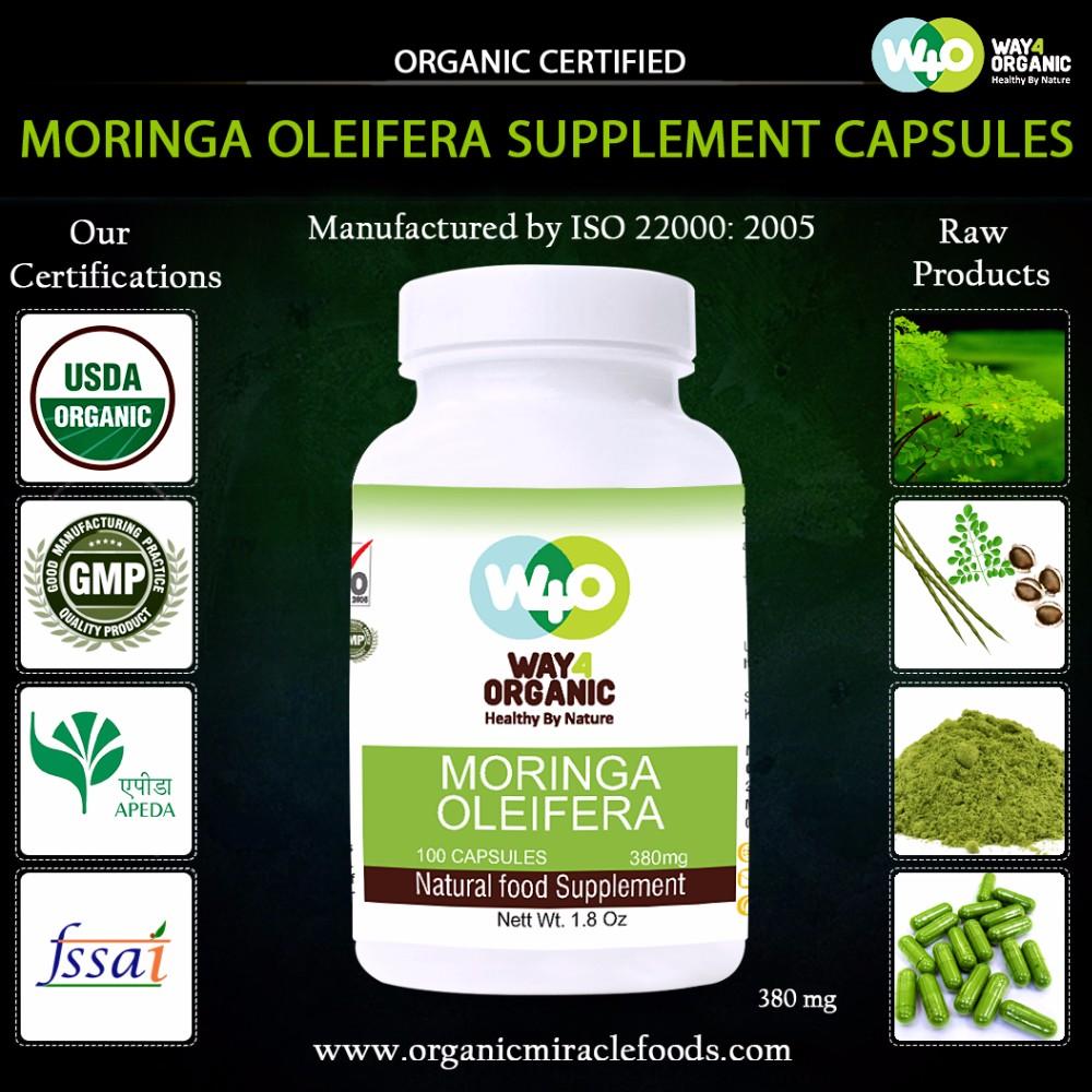 Health Supplements Moringa Oleifera Leaf Powder Capsules Private ...