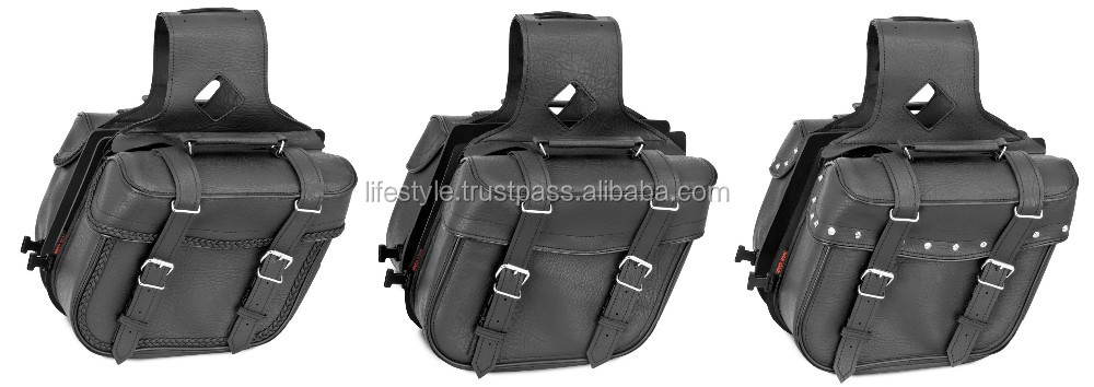 Motorcycle Hard Saddle Bags Laptop Bag Western For Leather Bicycles