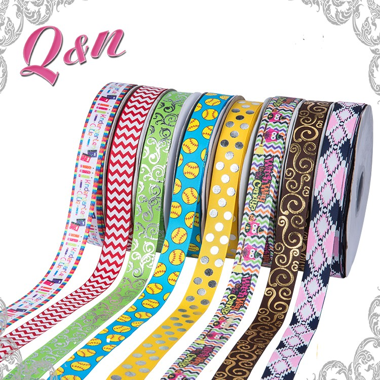 wholesale brand name printed ribbon cotton