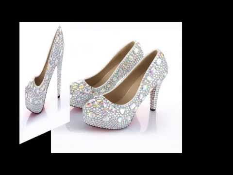 VELCANS Women's Rhinestone Crystal Platform High Heels for Bridal,Evening,Party,Wedding Pumps Shoes