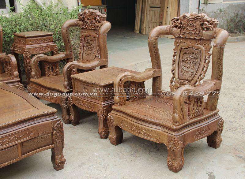 Wooden Sofa Sets Carved Wooden Crafts Natural For Living