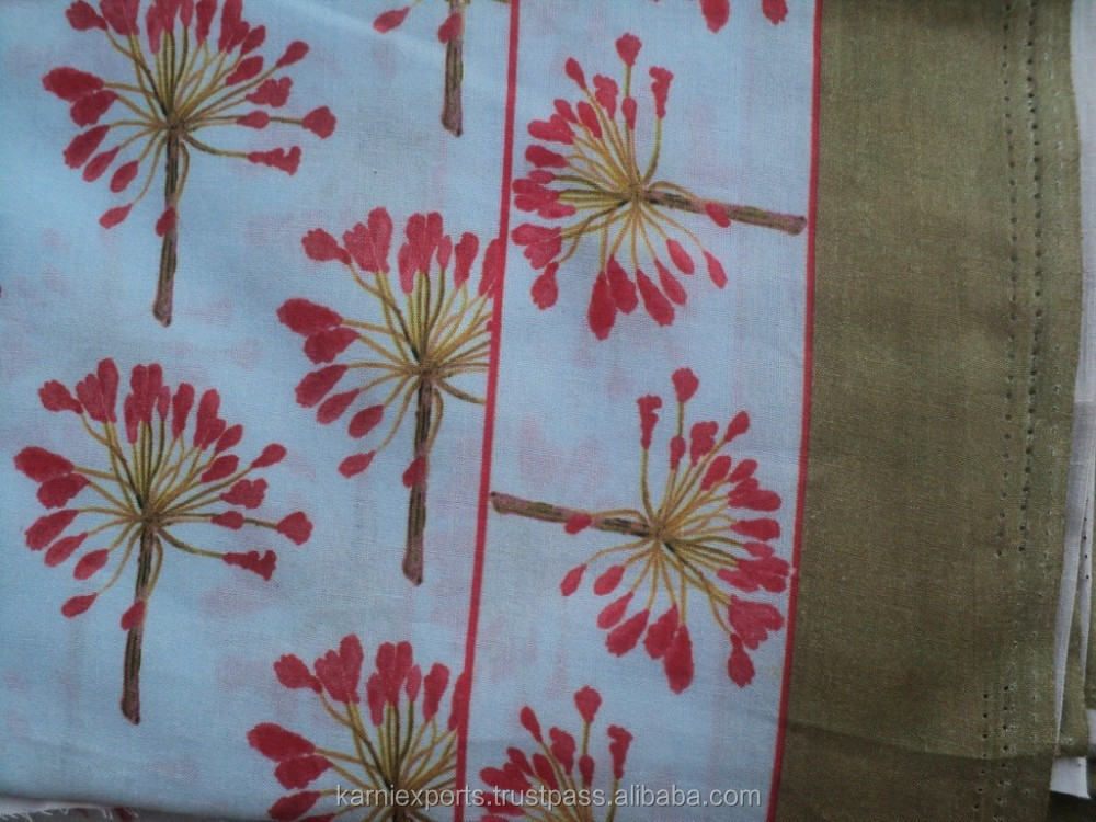 Custom Knitted Digital Flower Printed Fabric Cotton/Top Quality fabric Digital Print Cotton -S001
