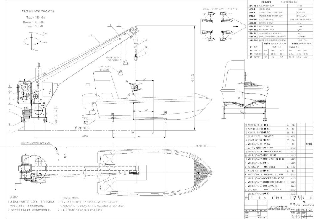 Davit For Lifeboat Buy Electric Davits Product On Alibaba Com