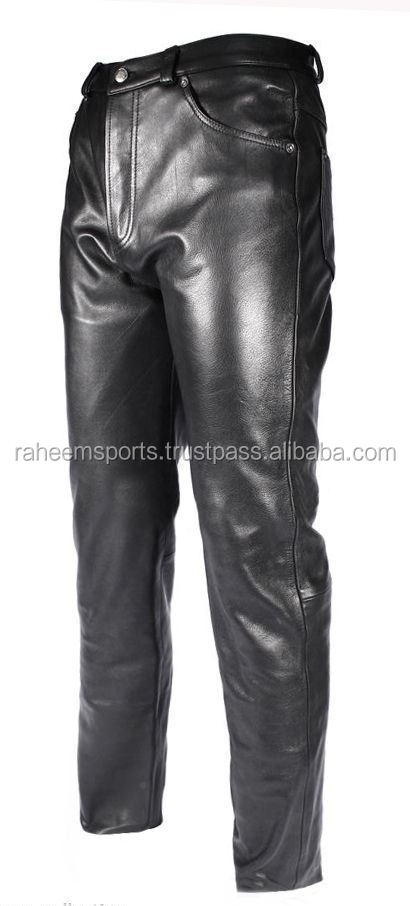 Men's Black Real Genuine Premium Leather pant