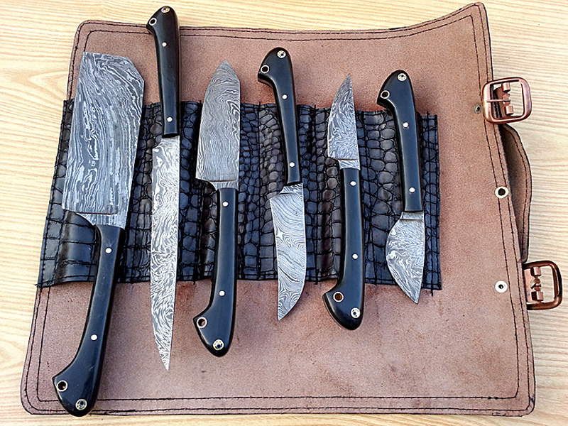 Damascus Hand Made Kitchen Knife Set   Buy Kitchen Knives Set Product On  Alibaba.com