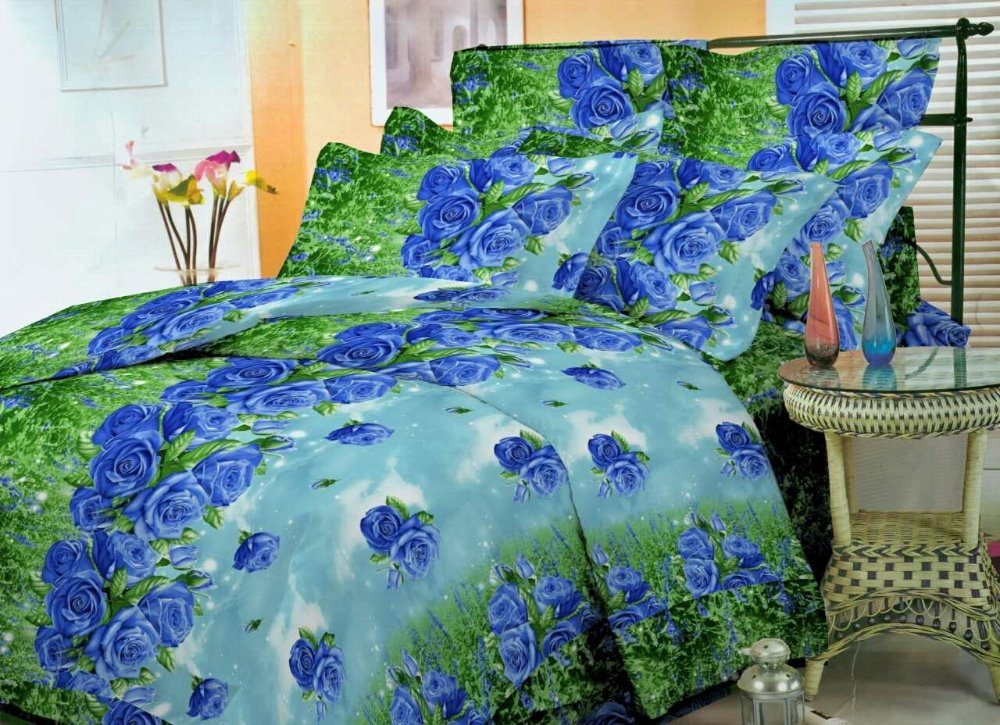 100% Polyester Microfiber Pigment Floral Printed Bed Sheets /Mattress Fabric For Bedding/Home Textile From China