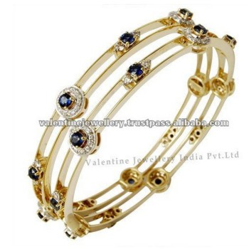 and hannoush bracelet diamond yellow bangles sapphire gold bangle