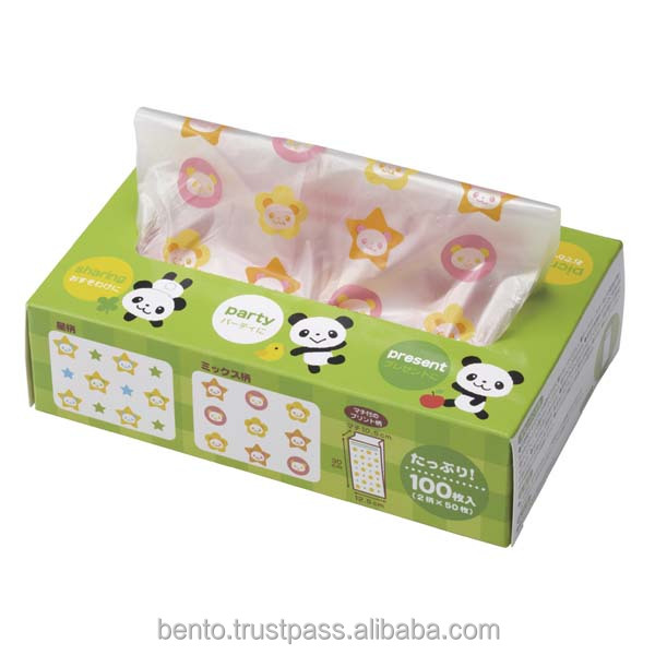 Boxed Candy Bag Panda Plastic Disposable Lunch Bags
