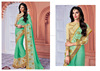 sea green patch work sarees buy online