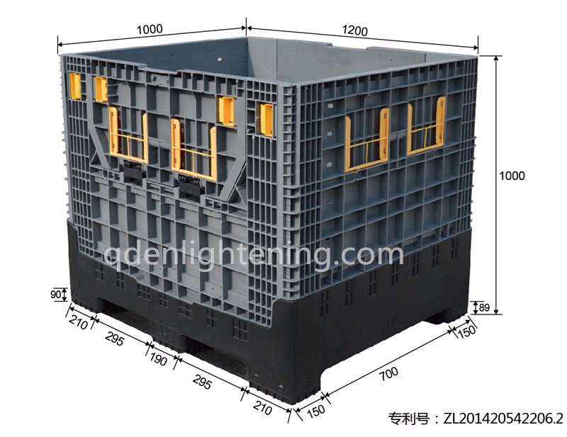 Heavy Duty Collapsible Crates Foldable Pallet Box Storage
