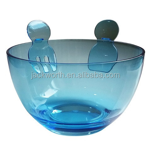 Salad Serving Bowl with Serving Utensils