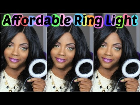 Affordable Ring light Neewer 48 LED Ring Light) Review #TechBeautie
