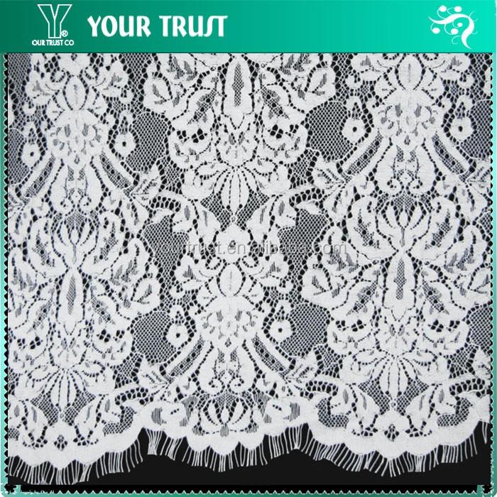 250 Gram 135 Centimeter White Embroidery Lace 100% Cotton Fabric ...