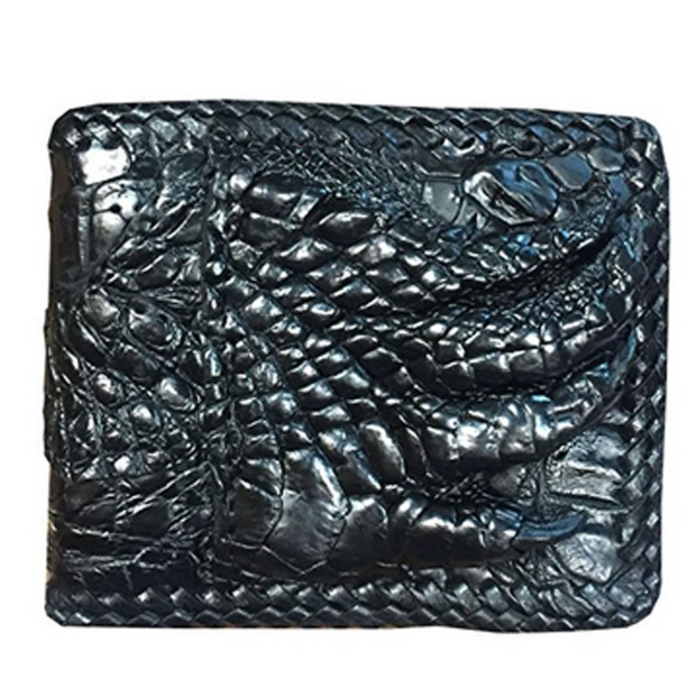 FREE SHIPPING **Luxury Crocodile Skin Leather with Unique Foot Claw Bi-fold Short Wallet