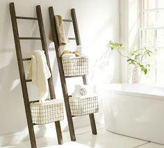 Natuurlijke Bamboe Handdoek Ladder Voor Decoratie/badkamer 2017 (wit ...