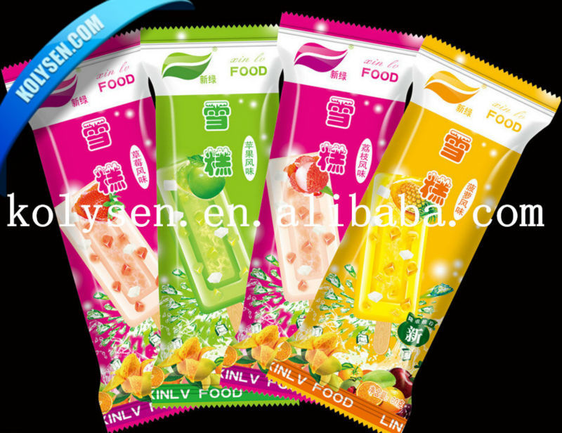 printed plastic Popsicle Wrapper/ice cream wrapper/laminated new design attractive package bag