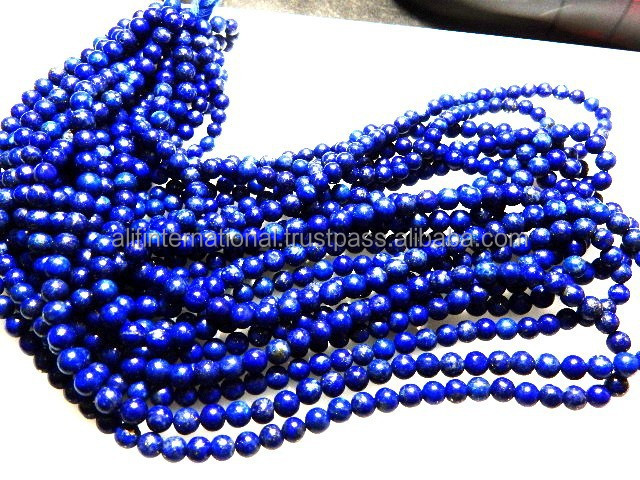 AAA Quality Natural Royal Blue 5.5MM Round Ball Lapis Lazuli Beads