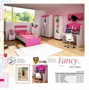 Phantasie Pinky Teenager Schlafzimmer Set Mit Kommode Kleiderschrank