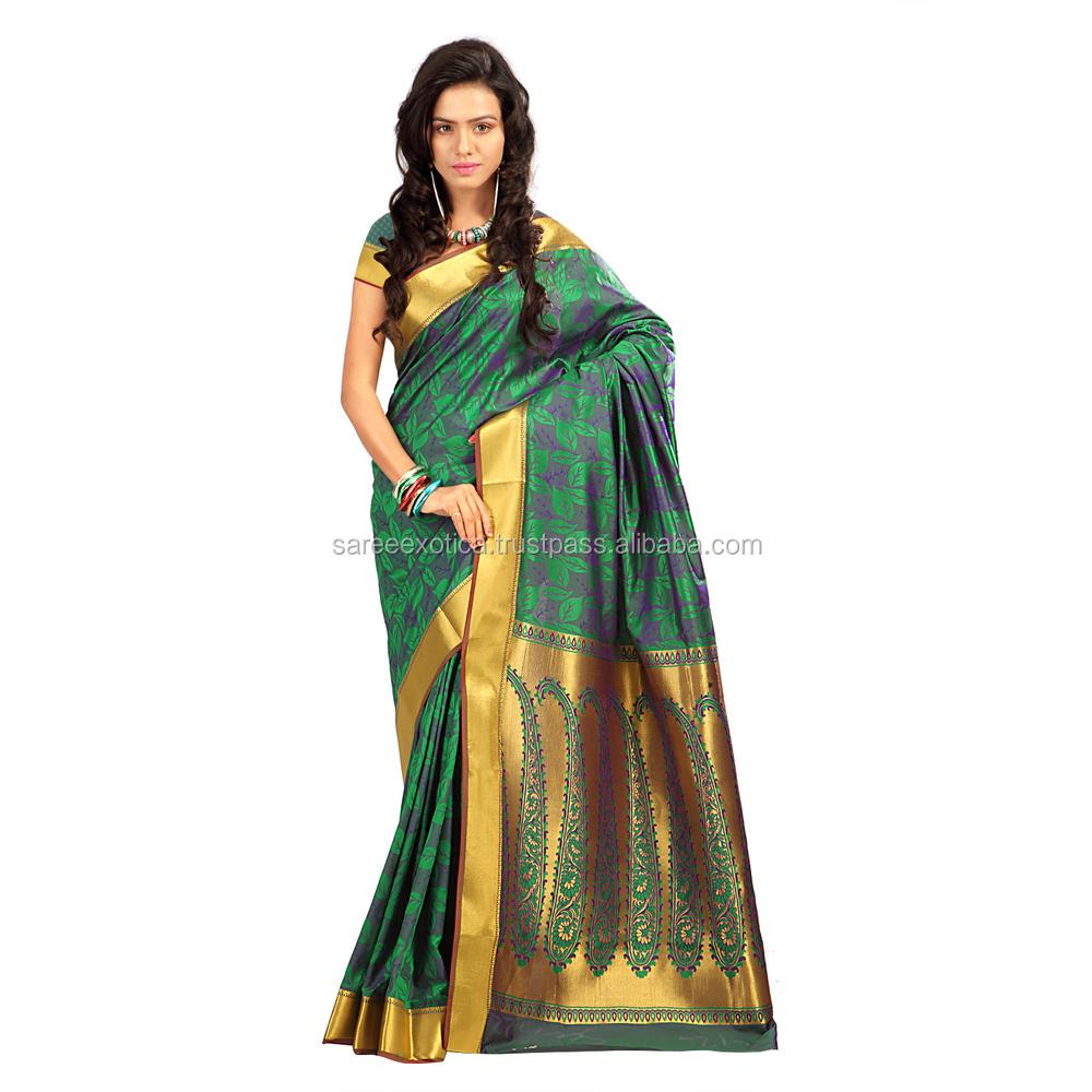 24acab9f0ba Latest Indian Women Saree printed sare silk saree Casual Daily wear saree  KANJIVARAM saree