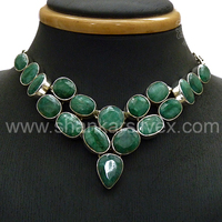 NEW !! Sweet Emerald 925 Silver Handmade Necklace /online Collection Indian Jewelry /Sterling Silver Jewelry NKCT2026-1