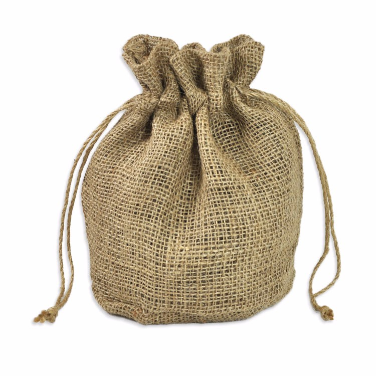 11 x 9 x 6 Natural Jute Round Bottom Bags/Jute Pouch For Gift