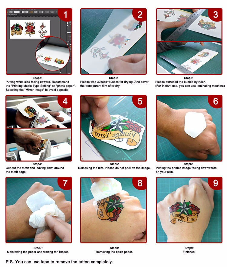 Cheap Price Laser Tattoo Paper Singapore