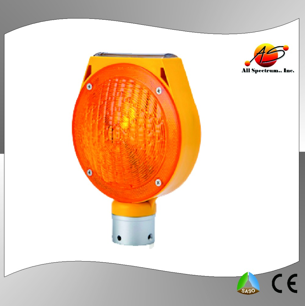 Amber Revolving Solar Traffic Road Safety Led Warning