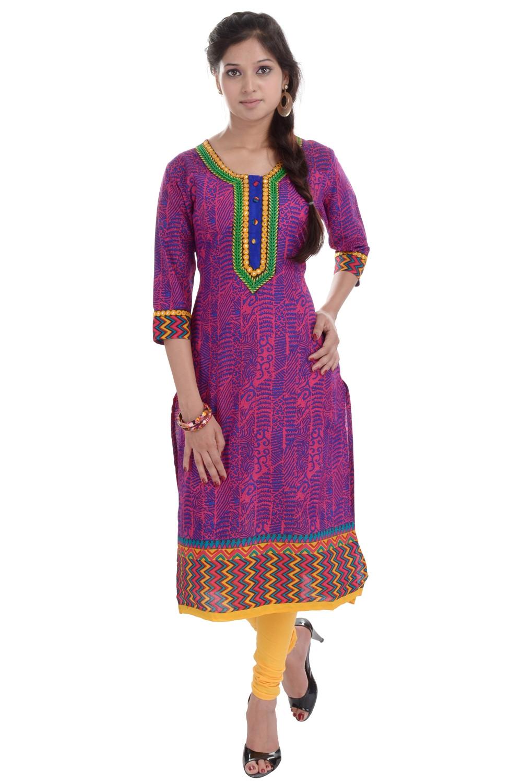 Chichi Printed Multi Color Rajasthani Kutis Buy Printed