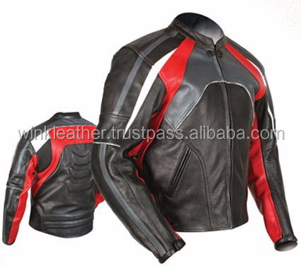 New Mens Motorbike leather Jacket