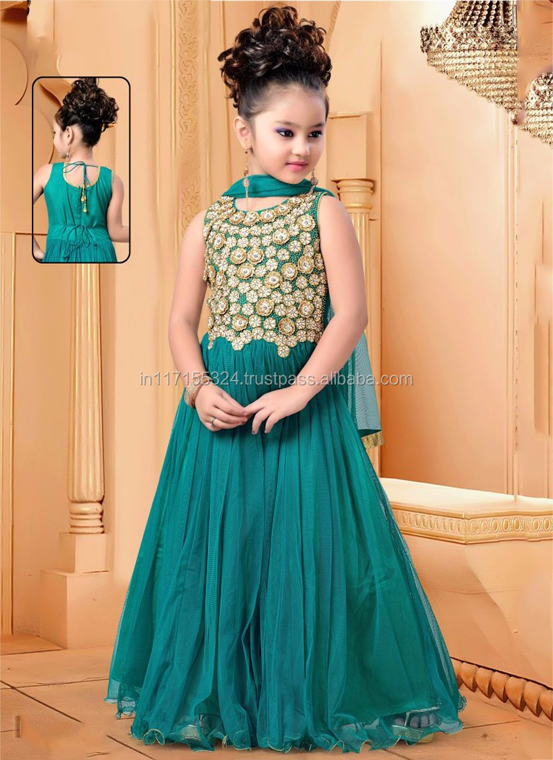 Online Shopping Kids Child Dress - Green Beautiful Kids Girls ...