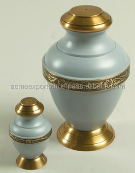 2016 Hot Sale !!!!! Brass Large/Small Funeral Cremation urns for ashes