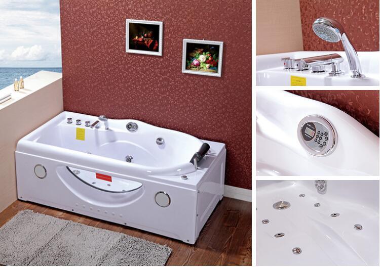 Whirlpool Kleine Badkamer : Kleine badkamer een persoon whirlpool hoekbad met glas buy
