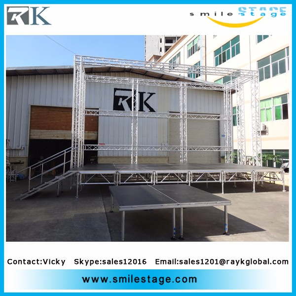 cheap diy portable stage with wheels aluminium stage deck