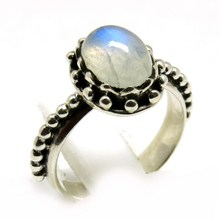 Petite Fire White !! Rainbow Moonstone 925 Sterling Silver Ring, Wholesale Jewelry On Factory Price, Handmade Rings