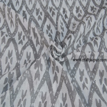 Ikat Printed Indian Hand Block Ikat Fabric