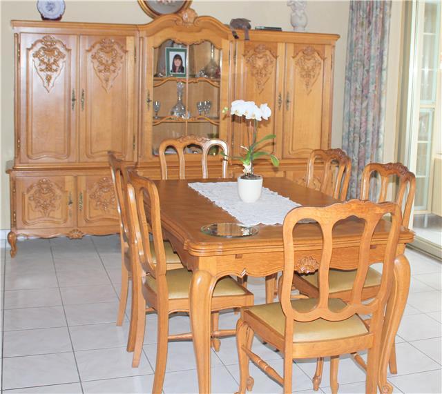 Complete Eetkamer Set.Real European Antique Louis Xv Dining Rooms French Light Oak Wood