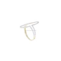 New Designer CZ 14K Gold Fine Ring