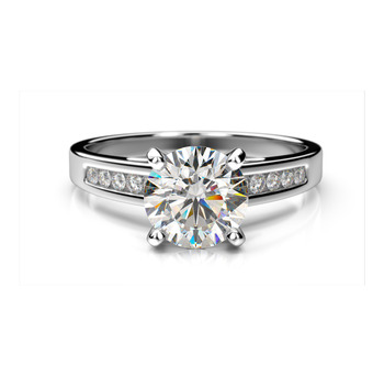 Solitaire With Accents 1 30ct Diamond En Ement Ring In 14k Gold At Manufacturing Price