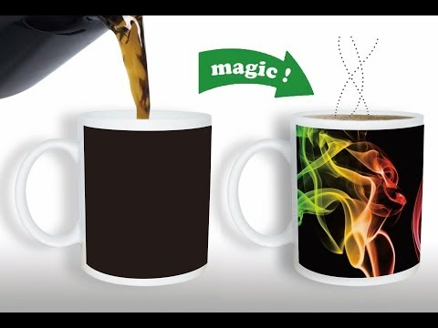 Magic Color Changing Mug - A Heat Sensitive Color Changing Mug That Will Impress Your Friends