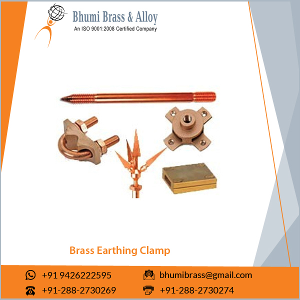 Good Quality Corrosion Resistant Brass Earth Rod U Shape Bolt Clamp at Low Price