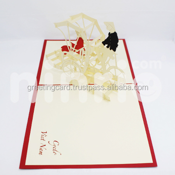 Cyclo Pop Up Card Handmade Greeting