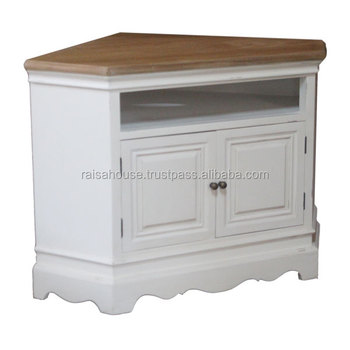 Indonesia Furniture Shabby Chic - Triangle tv stand shabby chic furniture