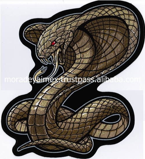 Real Snake Custom Embroidery Patches Animals 3D Customized Embroidery patches