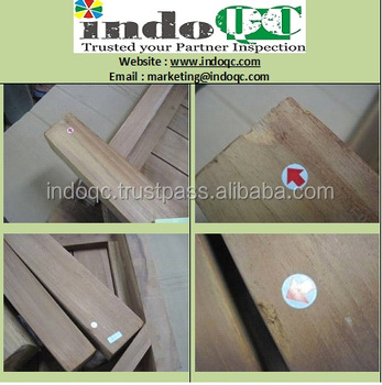 wooden teak chair furniture inspection services / Quality control in indonesia