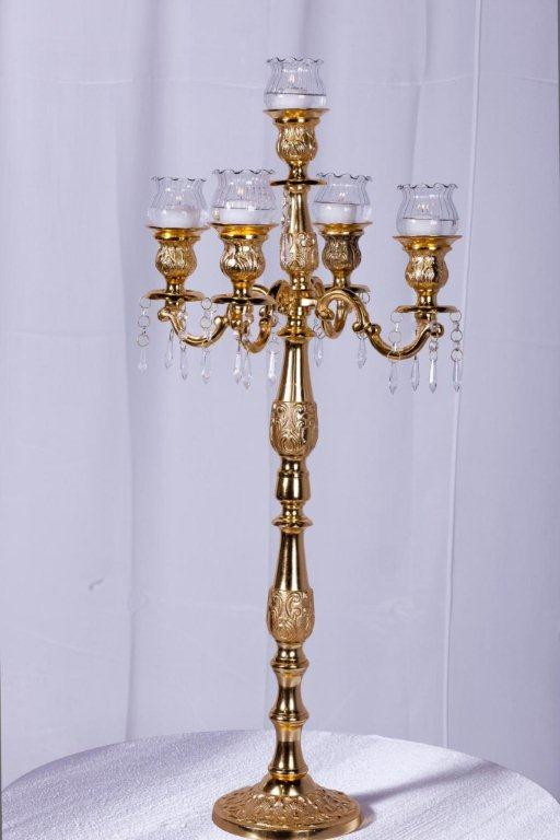 Silver candelabra arm