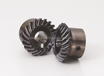 Hardened spiral miter gear Module 2.25 Carbon steel Ratio 1 Made in Japan KG STOCK GEARS