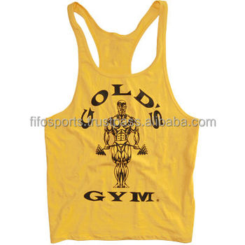 8cbc5462e49f65 Golds Gym Workout Tank Top - Gold s Gym Racerback Stringer - World Vest