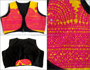 Indian embroidered jacket-Gujarati traditional handmade jacket---vests- ladies shrug jacket