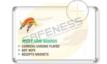 Chrome Plated White Boards Sql-sgn-nb-cpwb-002