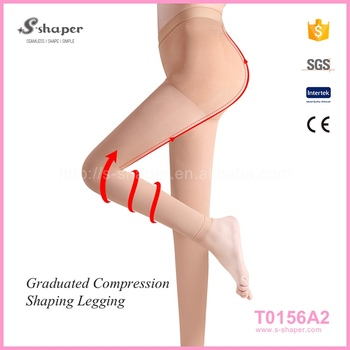 3937bcefd5 Women Pantyhose,Medical Slim Footless Tights Varicose Veins,Opaque Compression  Stockings T0156A2